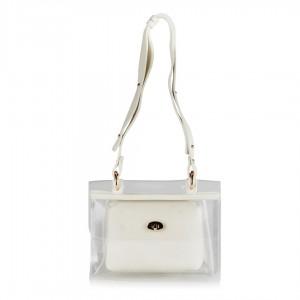 Şeffaf Beyaz Çanta Askılı