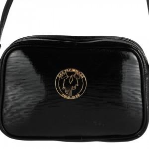 Siyah Rugan Omuz Askılı Çanta