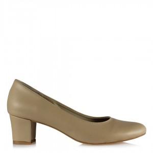 Casual Nude Rengi Topuklu Ayakkabı