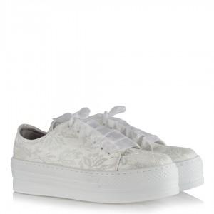 Spor Gelin Ayakkabısı Kırık Beyaz Dantel