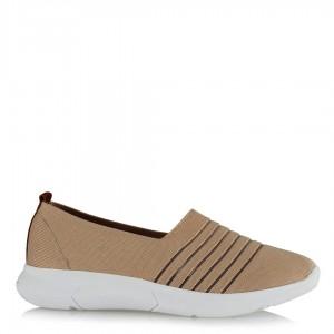 Spor Ayakkabı Streç Bej Rengi