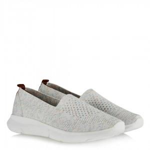Bayan Streç Ayakkabı Beyaz Renkli