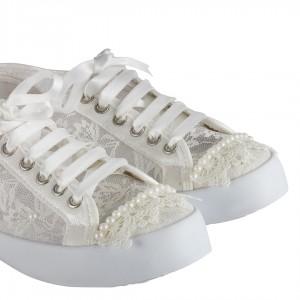 Gelinlik Ayakkabı Vans Model Cici Dantel
