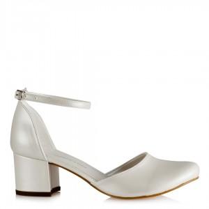 Nikah Ayakkabısı Az Topuklu Kalın Bilek Kemerli