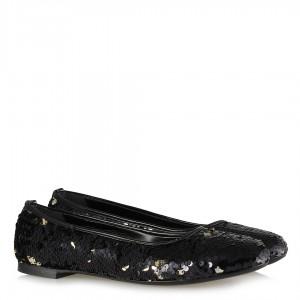 Babet Ayakkabı Siyah Pullu