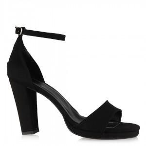 Ayakkabı Siyah Süet Bantlı