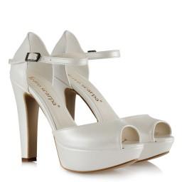 Gelin Ayakkabısı Kırık Beyaz Model