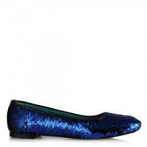Babet Ayakkabı Saks Mavi Pullu