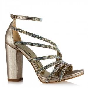 Dore Taşlı Yaldızlı Abiye Ayakkabı