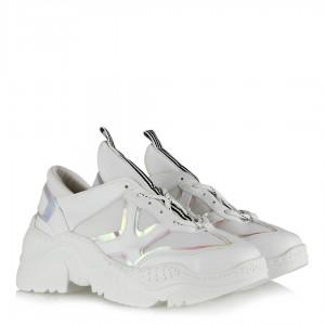 Spor Ayakkabı Beyaz Bağcıklı