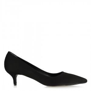 Stiletto Siyah Süet Sivri Model