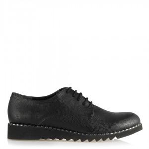 Düz Ayakkabı Bağcıklı Siyah Eva Taban