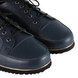 Hakiki Deri Ayakkabı Bağcıklı Lacivert