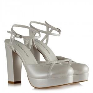 Gelin Ayakkabı Kalın Topuk Platform