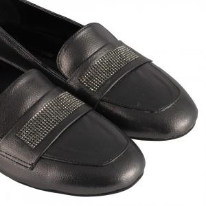 Babet Ayakkabı Füme Yaldızlı Taşlı