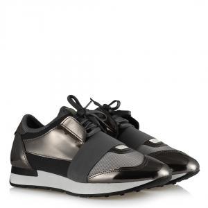 Bağcıklı Spor Ayakkabı Gri Platin