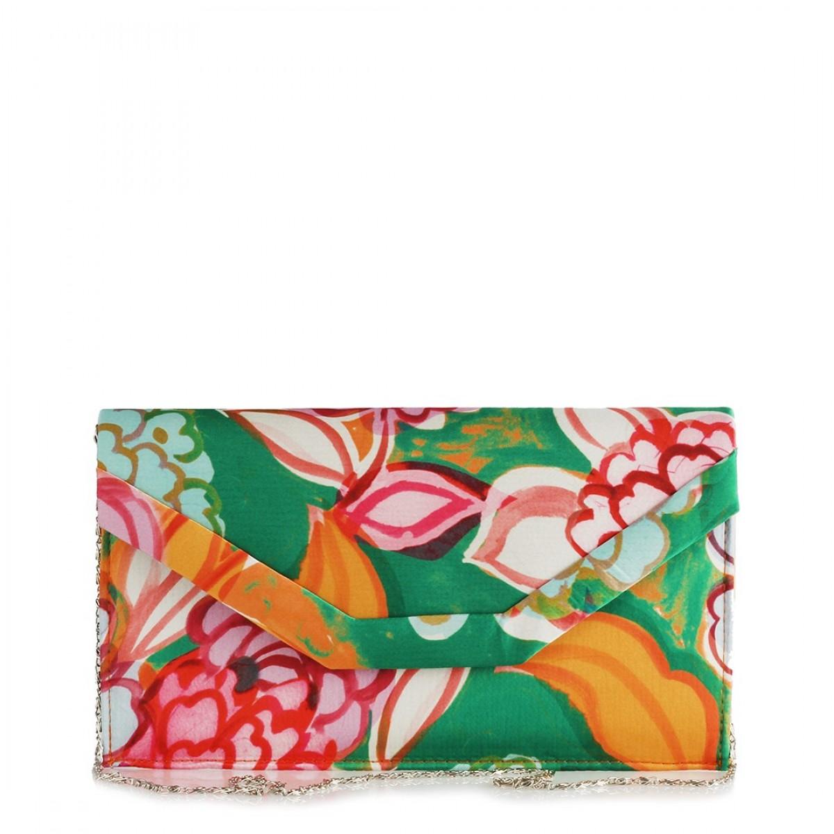37a6a9b22ecc5 Portföy El Çanta Çiçek Desenli Renkli