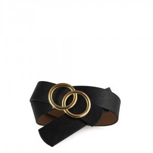 Kemer Siyah Altın Rengi Tokalı