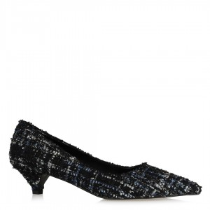 Stiletto Ayakkabı Tweet Renkli Kumaş
