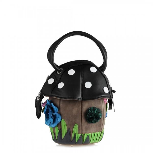 Renkli Çiçekli Mantar Bayan Çanta
