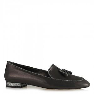 Loafer Ayakkabı Püsküllü Platin
