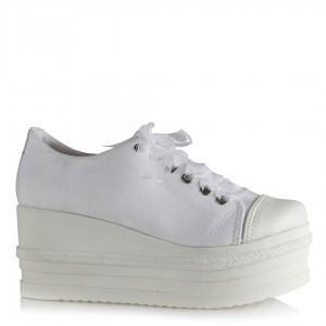 Beyaz Keten Gelin Ayakkabısı Spor