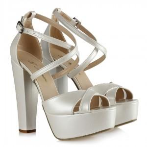 Gelin Ayakkabısı Platform Ayakkabı Çapraz