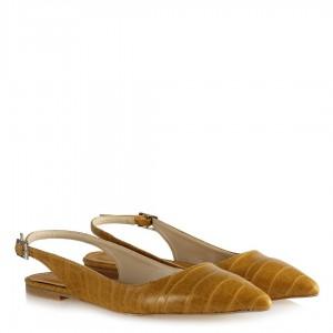 Babet Ayakkabı Sarı Crocodile