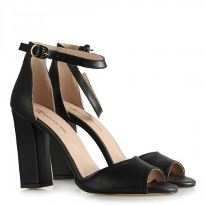Topuklu Ayakkabı Siyah Mat Kemerli