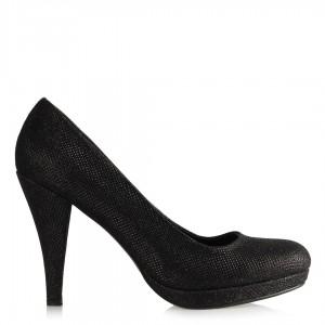 Topuklu Abiye Ayakkabı Siyah Simli