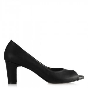 Topuklu Ayakkabı Siyah Deri