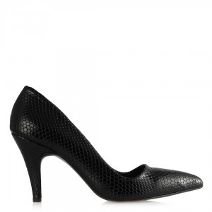 Stiletto Ayakkabı Siyah Damla Desenli