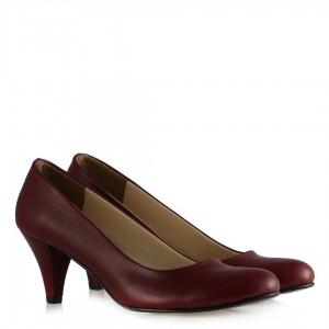 Topuklu Ayakkabı Bordo Mat