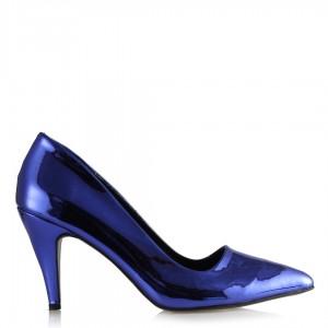 Gece Mavisi Stiletto Ayakkabı