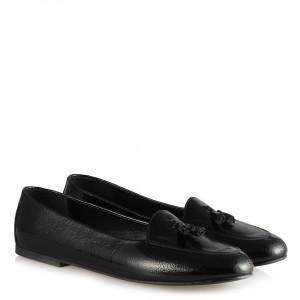 Babet Ayakkabı Siyah Mısırlı Desen Rugan
