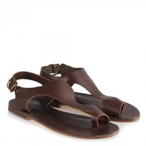 Bodrum Sandaleti Parmak Arası Kahverengi