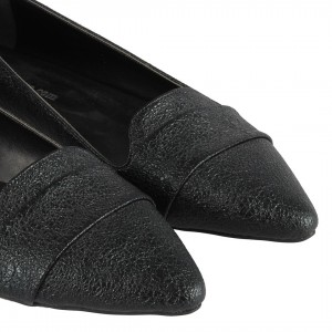 Babet Stiletto Siyah Damarlı
