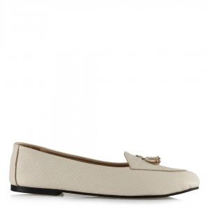 Babet Ayakkabı Bej Hakiki Deri Loafer