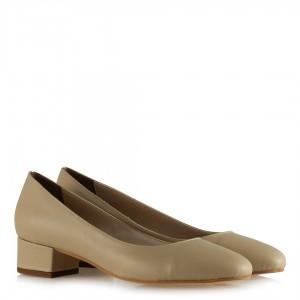 Topuklu Ayakkabı Ten Rengi Kapalı