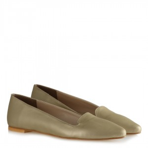 Babet Ayakkabı Dore Rengi Sivri Model