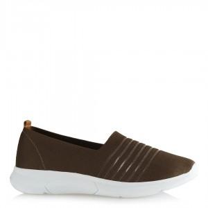 Bayan Streç Ayakkabı Haki Rengi