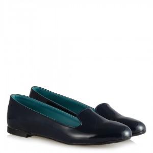 Babet Ayakkabı Lacivert Rugan Dilli