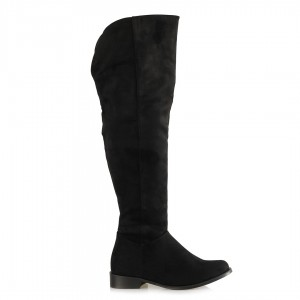Binici Çizme Fermuarlı Siyah Süet