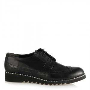 Oxford Ayakkabı Siyah Zımbalı