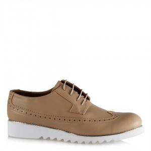 Ten Rengi Zımbalı Taban Oxford Ayakkabı