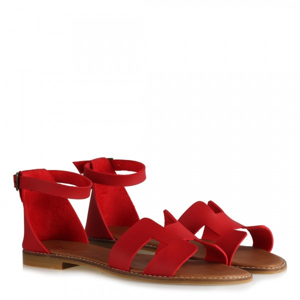 Sandalet H Model Kırmızı