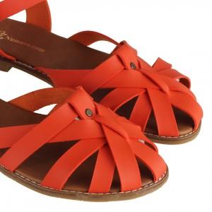 Sandalet Kafes Model Turuncu Renk