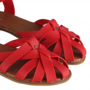 Kafes Model Kırmızı Sandalet