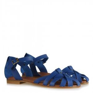 Kafes Model Mavi Sandalet