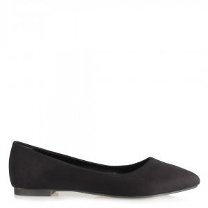 Babet Ayakkabı Sivri Siyah Süet Model